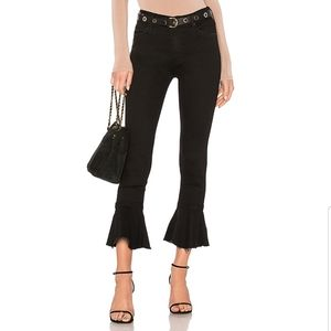 MOTHER | Cha Cha Fray Crop Flare Skinny Jeans